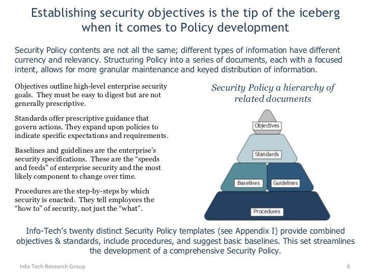 6 establishing security