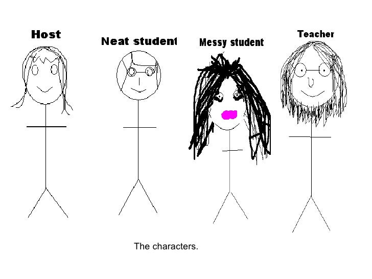The characters.