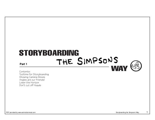Part 1PDF provided by www.animationmeat.com   Storyboarding the Simpsons Way   1
