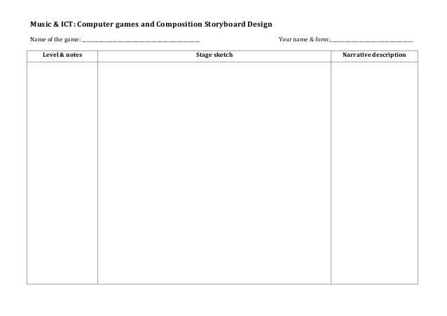 Storyboard Design Template