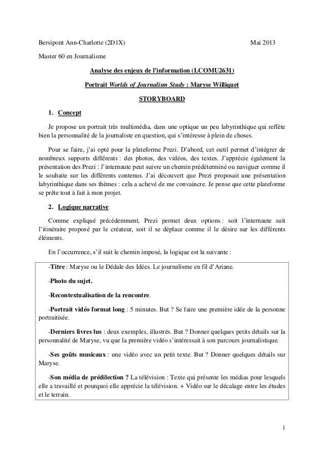 1Bersipont Ann-Charlotte (2D1X) Mai 2013Master 60 en JournalismeAnalyse des enjeux de l'information (LCOMU2631)Portrait Wo...