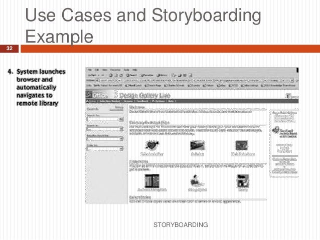 Storyboarding  Information Systems Engineering