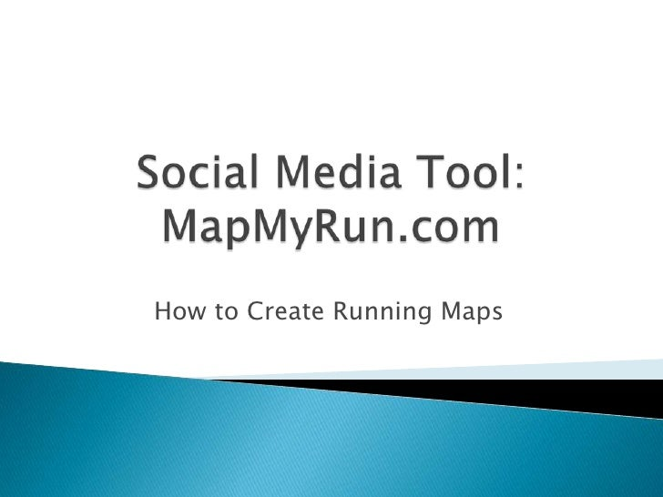 How to Create Running Maps