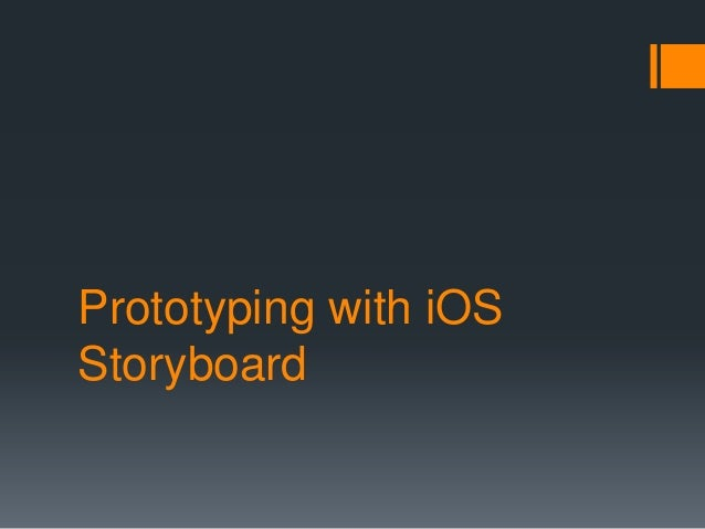 Prototyping with iOS Storyboard