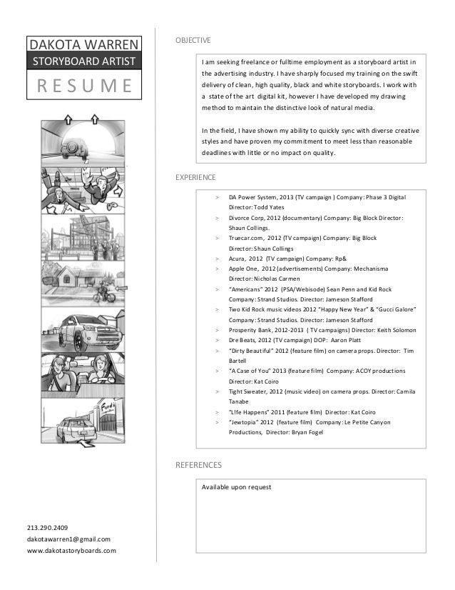 storyboard resume 2013 3
