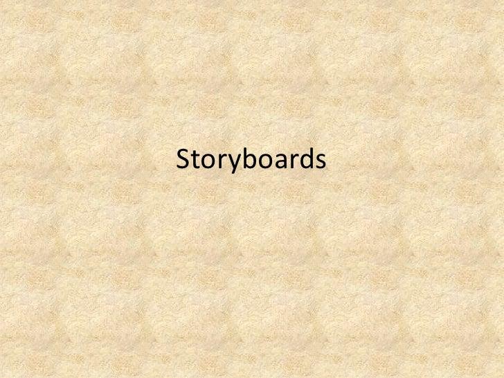 Storyboards<br />