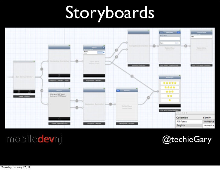 Storyboards                                        @techieGaryTuesday, January 17, 12