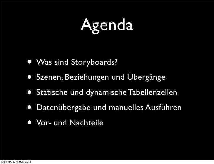 Effizientes Arbeiten mit Storyboards Slide 2