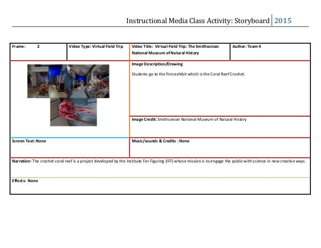 Effects: None; 2. Instructional Media Class Activity: Storyboard ...