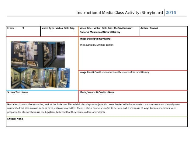 Storyboard Template Presentation Of Media Products Video