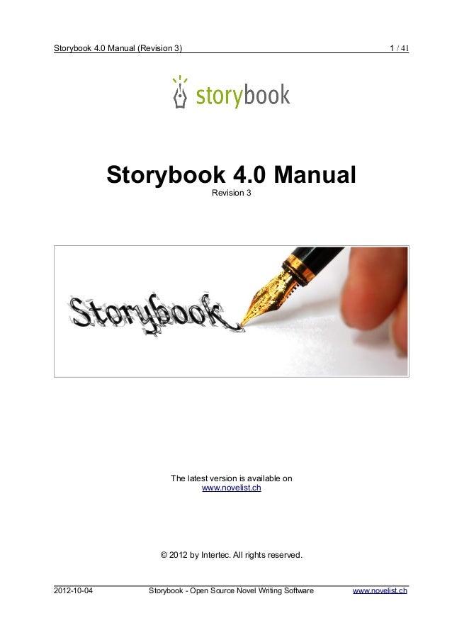 Storybook 4.0 Manual (Revision 3)                                                  1 / 41             Storybook 4.0 Manual...