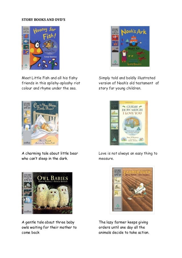 Story books and dvd s