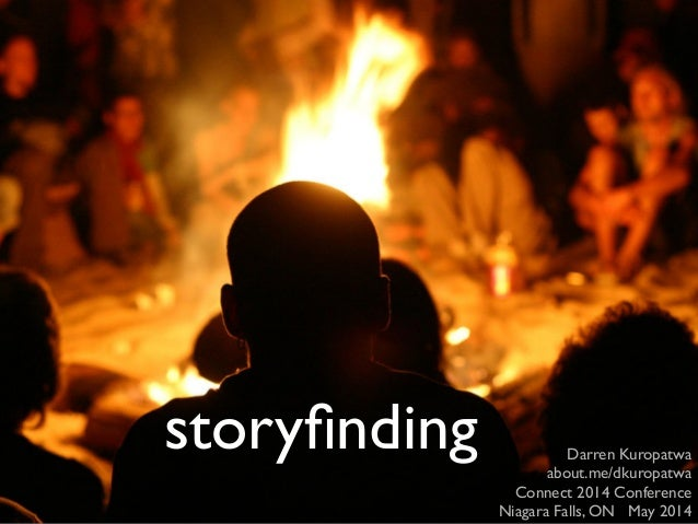 storyfinding Darren Kuropatwa about.me/dkuropatwa Connect 2014 Conference Niagara Falls, ON May 2014