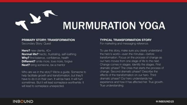"1K MURMURATION YOGA  PRIMARY STORY:  TRANSFORMATION TYPICAL TRANSFORMATION STORY "" I'I. II IIII—1II~. :~IIVI; ) :1! III ""'..."