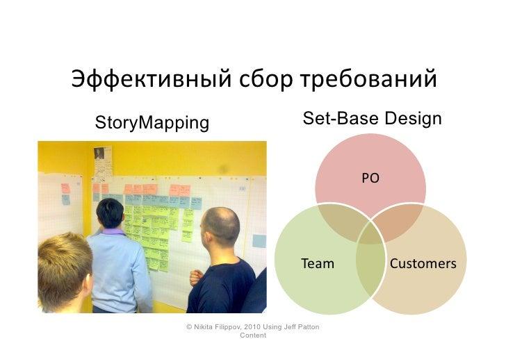 Эффективный  сбор  требований     StoryMapping                                Set-Base Design                       ...