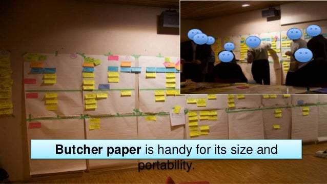 Butcher paper is handy for its size and portability.