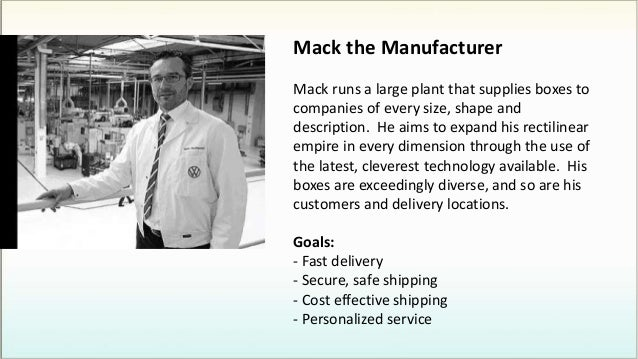 Mack the Manufacturer Mack runs a large plant that supplies boxes to companies of every size, shape and description. He ai...