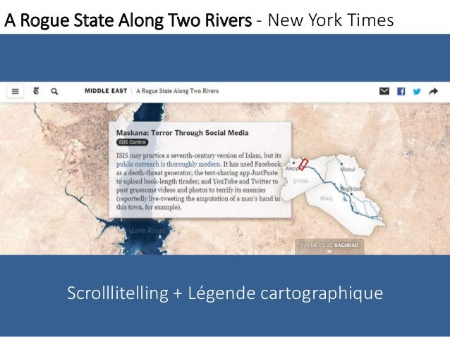 A Rogue State Along Two Rivers - New York Times  Scrolllitelling + Légende cartographique