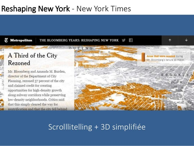 Reshaping New York - New York Times  Scrolllitelling + 3D simplifiée