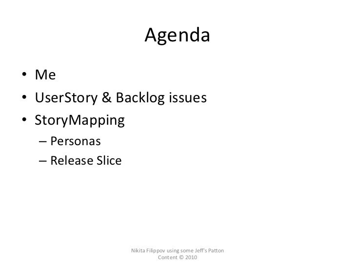 Story mapping  Slide 2