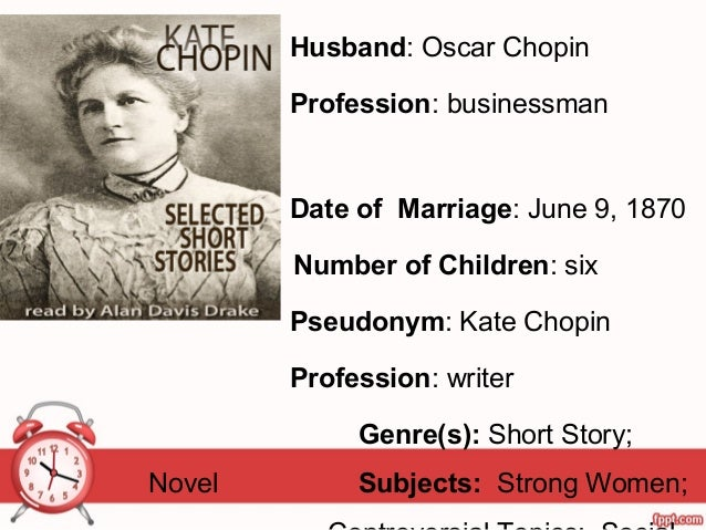 the sacred marriage by katherine chopin Kate chopin - her literary impact on the women's liberation movement katherine o  the ironies of marriage in kate chopin's  school named the sacred heart.