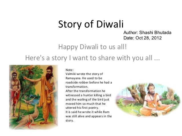 Story of Diwali                                                   Author: Shashi Bhutada                                  ...