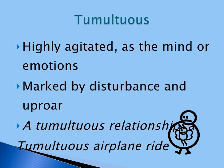 tumultuous meaning