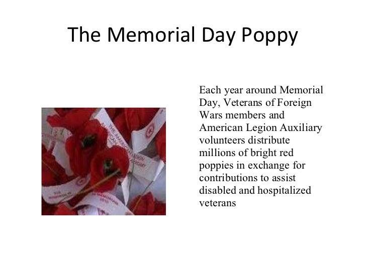 Story Of Memorial Day Poppy Public