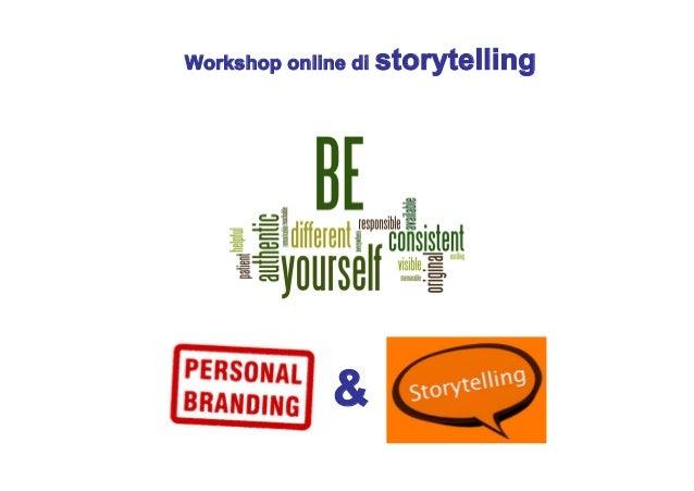 Workshop online di storytelling  &