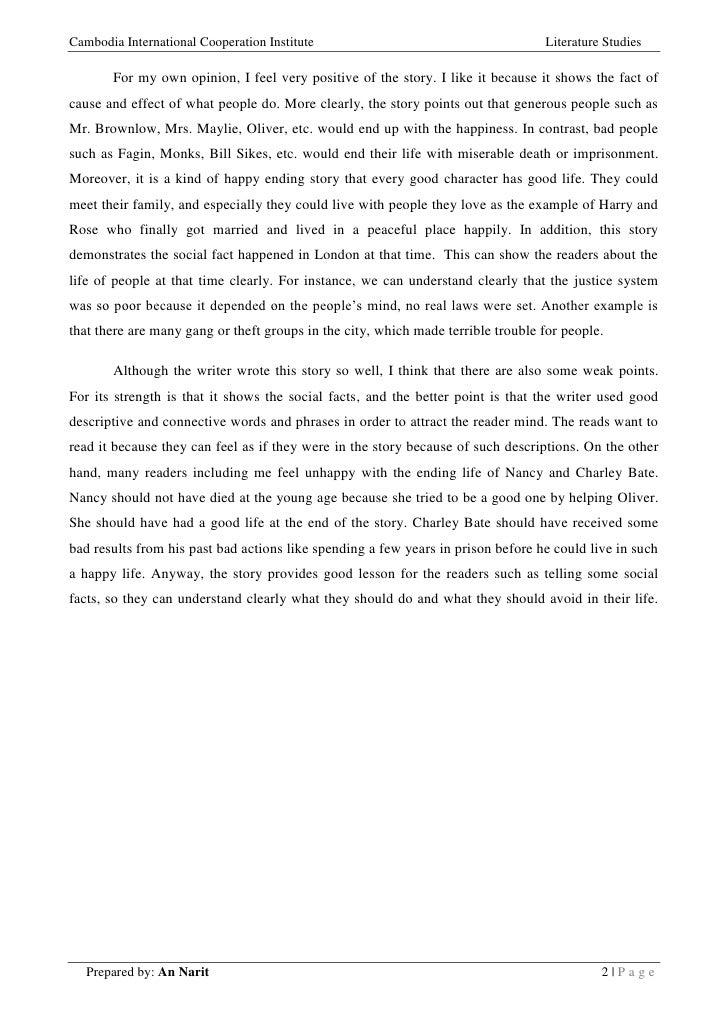 oliver twist short summary pdf