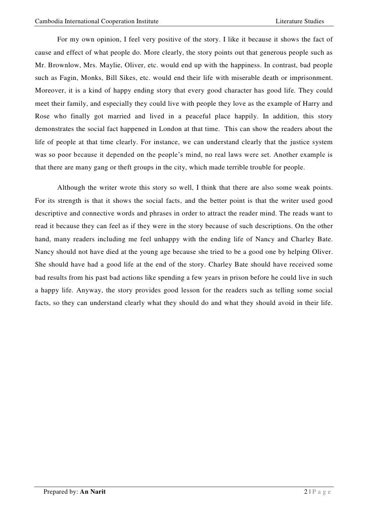story review on oliver twist  2