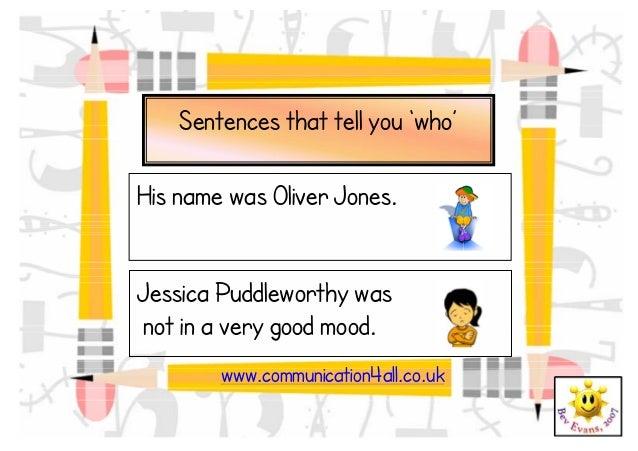 Story sentence starters