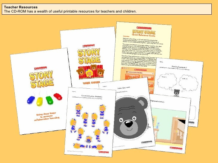 Teacher Resources Each CD-ROM has a wealth of useful printable resources for teachers and children.