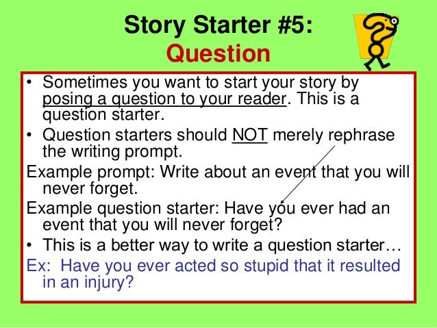 Year 7 Story Starters Writing