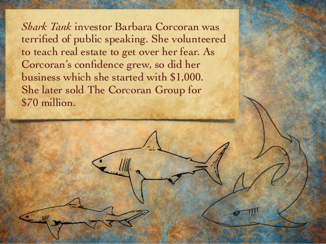 Shark Tank investor Barbara Corcoran was terrified of public speaking. She volunteered to teach real estate to get over her...
