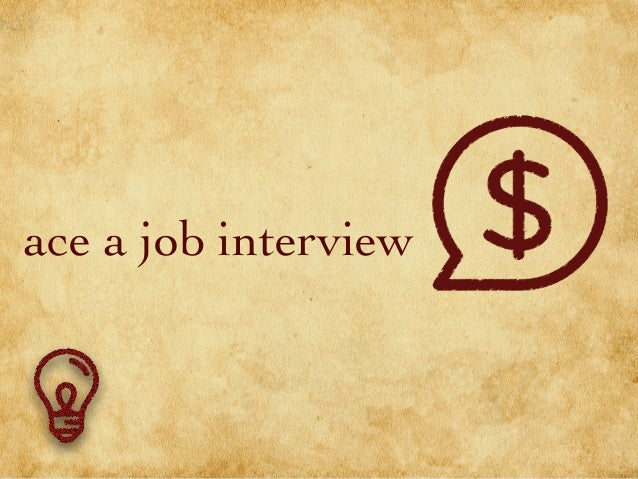 ace a job interview