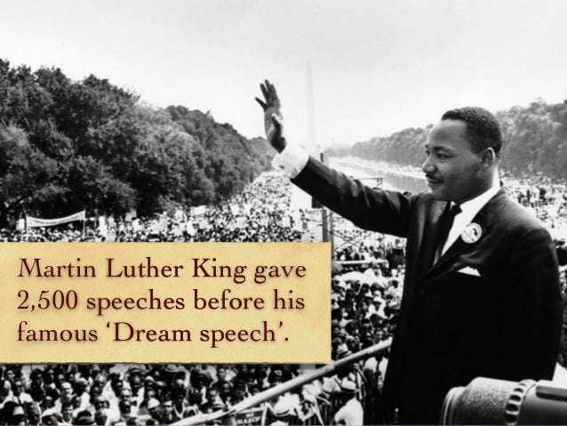 martin luther king gave 2 500
