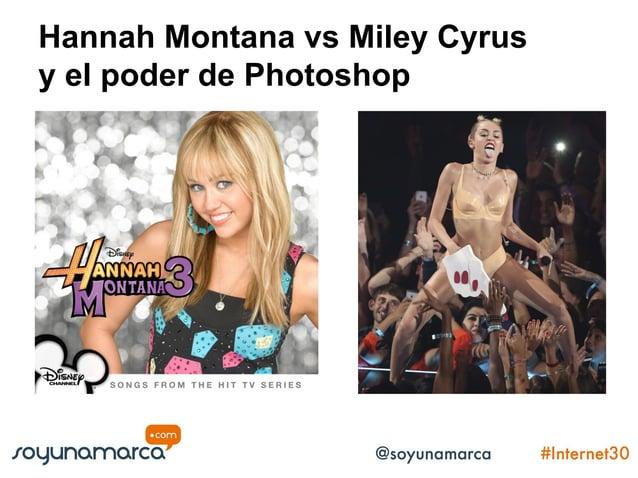 Hannah Montana vs Miley Cyrus y el poder de Photoshop