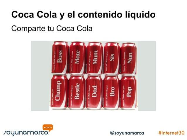 Coca Cola y el contenido líquido