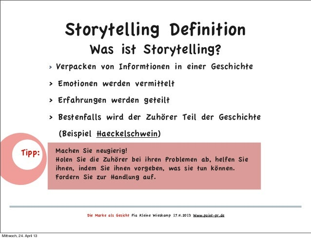 storytelling definition - Storytelling Beispiele