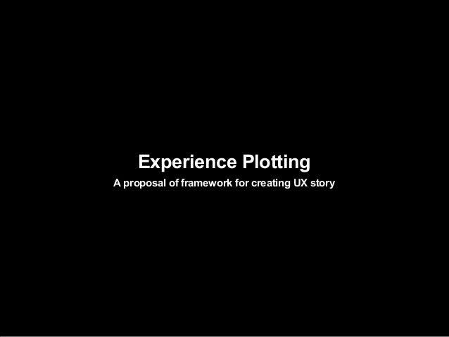 Experience PlottingA proposal of framework for creating UX story