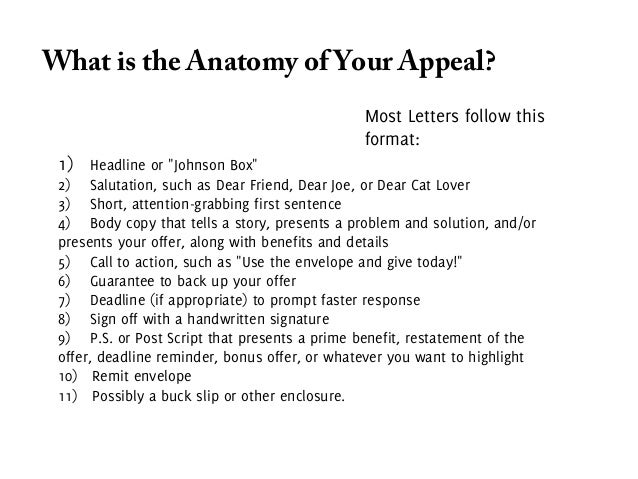 ... Appeal Bottom Example: Greenpeace; 41.  Appeal Letters