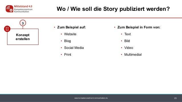 www.kompetenzzentrum-kommunikation.de • Zum Beispiel auf: • Website • Blog • Social Media • Print • Zum Beispiel in Form v...