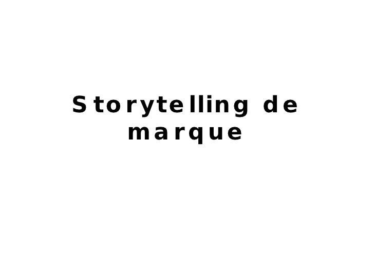 Storytelling de marque