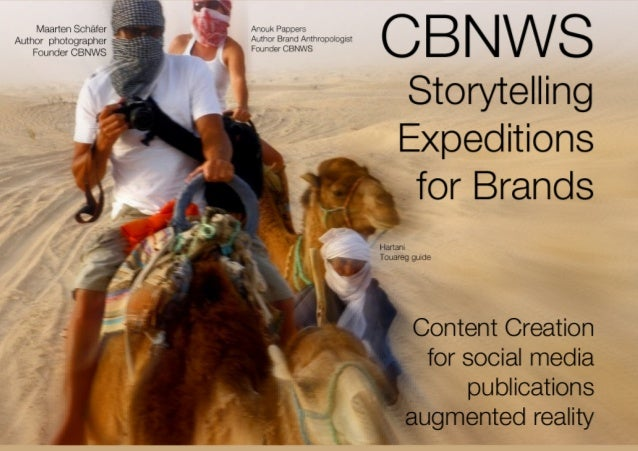 A STORYTELLING EXPEDITION FOR BRANDS by CBNWS What is a Storytelling Expedition? A reportage on a certain subject / projec...
