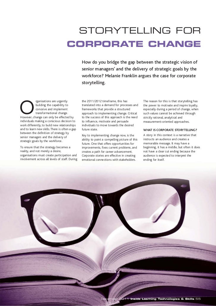 STORYTELLING FOR                                     CORPORATE CHANGE                                                 How ...