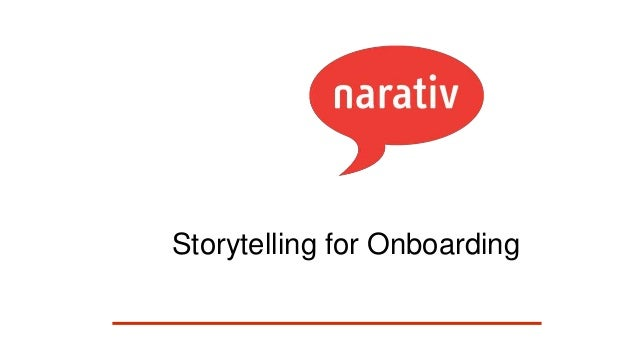 Storytelling for Onboarding