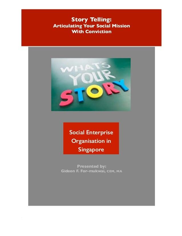 Story telling for social enterprises
