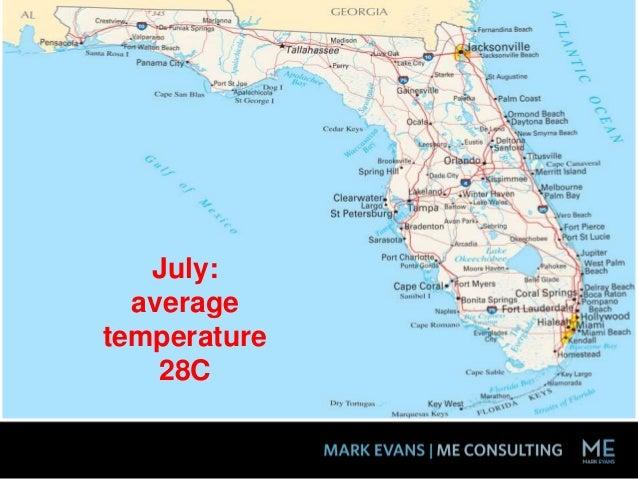 July: average temperature 28C
