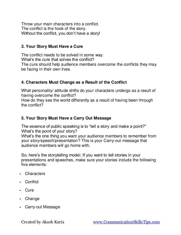 Storytelling secrets for public speaking Slide 2